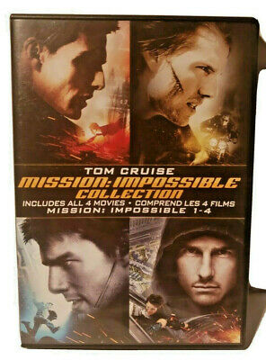 Mission: Impossible Collection DVD  Set Movies 1-4