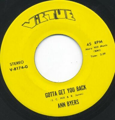 Sweet/Northern - ANN BYERS/FEMALE GROUP - Gotta Get You Back - Virtue