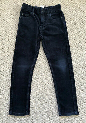 Next Boys Navy Blue Skinny Cords Trousers Age 6 Years
