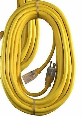 100ft 3-Prong 14//3 AWG SJTW Heavy Duty Power Extension Cord Yellow PC-414HDY