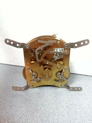 Vintage Smiths 8 Day Striking Clock Movement For Spares Or Repair.