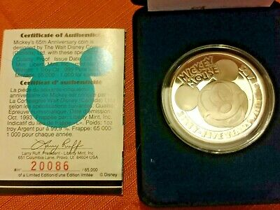 1oz Silver Mickey Mouse 1928-1993 Commemorative Coin It All Started With a Mouse