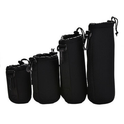 4xNeoprene Soft Protector Lens Pouch Case Bag S M L XL Set for DSLR Camera In BH