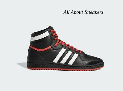 "Adidas TOP TEN HI ""CORE BLACK / CLOUD WHITE / G"" Trainers All Size Limited Stock"