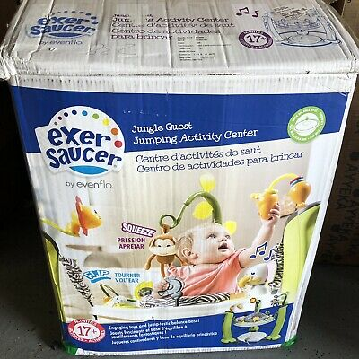 Evenflo ExerSaucer Jump & Learn Jungle Quest Stationary Baby Jumper New Open Box
