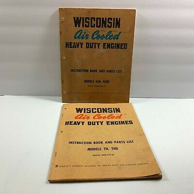 Wisconsin Air Cooled Heavy Duty Engines Parts & Instructions AEN AENS THD TH