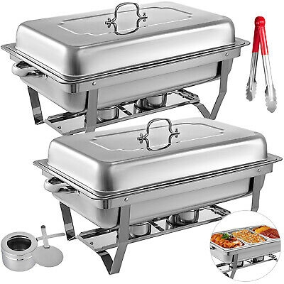 3LX6 Bain Marie Bow Chafing Dish Buffet Stainless Steel Food Warmer Pan Heater