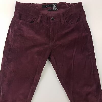 Calvin Klein Womens Corduroy Cord Jeans W30 L34 Purple Regular Fit Straight
