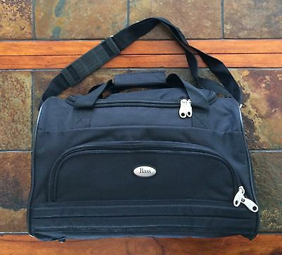 Gh Bass Co Black Canvas Travel Tote Catch All Bag - Adjustable Strap