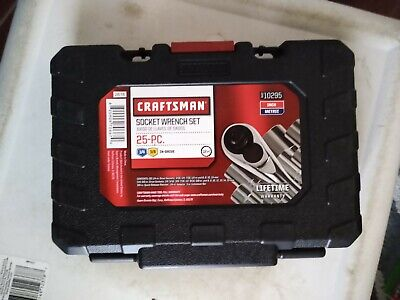 Craftsman 25 piece Inch Metric 3/8 1/4 in Drive Socket Wrench Set 10295 New SAE