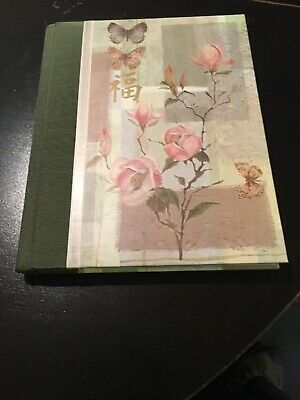 Happiness Journal, Green & Beige Hardcover Flora  By Markings