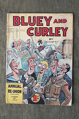 Vintage Australian BLUEY And CURLEY Comic - 1953 Annual Reunion By Gurney