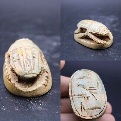 Beautiful Egyptian unique old scarab terracotta excellent pcs