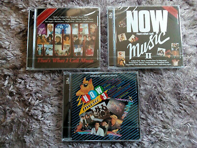 Now That's What I Call Music! 1 , 2 & 3  (3 X 2Cd Albums) Original New & Sealed