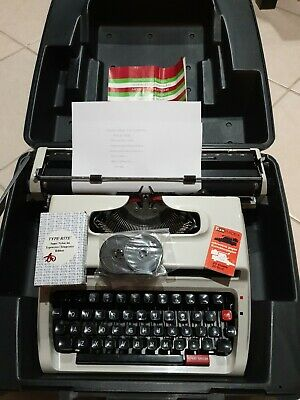 Vintage Brother Deluxe 1613 portable typewriter & case 1970s
