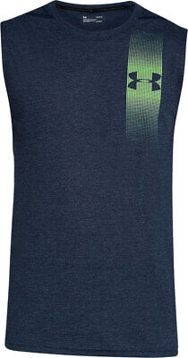 Under Armour UA Men's Siro Muscle Graphic Tank Top - Navy - New