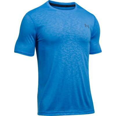 Under Armour UA Men's Threadborne Fitted Embossed T-Shirt - Blue - New