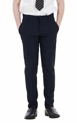 NEW Boys Skinny Slim Fit Navy Blue BHS School Trousers Smart Formal Trousers 34""