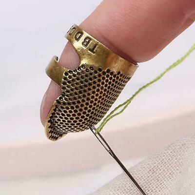 Retro Brass Sewing Thimbles Ring Finger Shield-Protector Sewn H1C0 s Finger