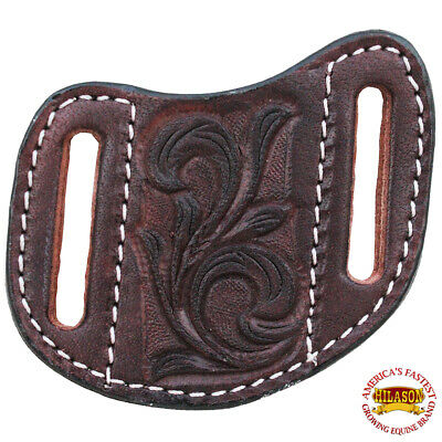 C-03-S Small Hilason Leather Angled Knife Scabbard Sheath Cover Floral Tooled