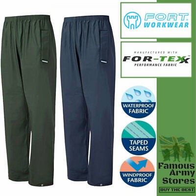 Fort Airflex Fortex navy blue wind /& water-proof breathable work trouser #921