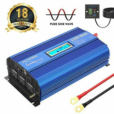 1000 Watt Pure Sine Wave Power Inverter by Spartan Power SP-PS1000 12V to 120V AC