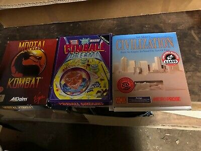 amiga games bundle Pinball ,civilzation, Mortal Kombat