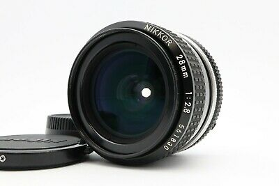 <NEAR MINT> Nikon Ai NIKKOR 28mm F/2.8 Lens MF Wide Angle from Japan #183