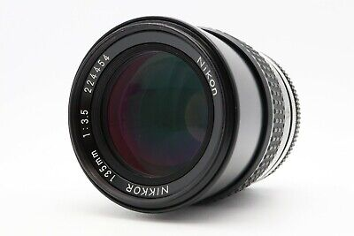 <NEAR MINT> Nikon Ai NIKKOR 135mm F/3.5 Lens Prime MF from Japan #208