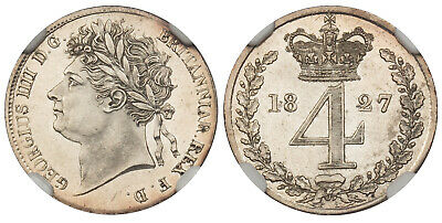 GR BRITAIN. George IV 1827 AR Maundy Set. NGC MS65-MS64 MDS SCBC-3816