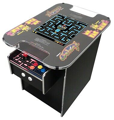 Commercial Grade Cocktail Arcade Machine With 60 Classic Games- Galaga-Ms PacMan