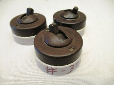 Vintage Electric Switches Crabtree Vitreous Bakelite Porcelain Made In Englan*30