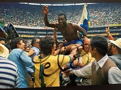 Pelé Hand Signed Original Autograph Photo - Brazil Footballer