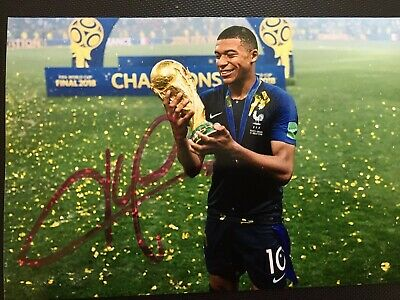 Kylian Mbappé Hand Signed Original Autograph Photo - France Footballer