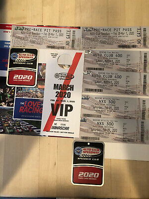 NASCAR Auto Club 400 2-Day Package includes Pit Passes & Parking for 2 people