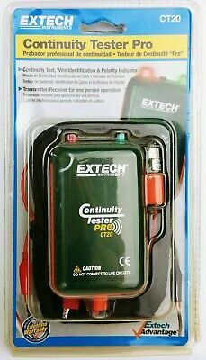 Extech Instruments CT20 Remote and Local Continuity Tester Pro Wiring ID - NEW