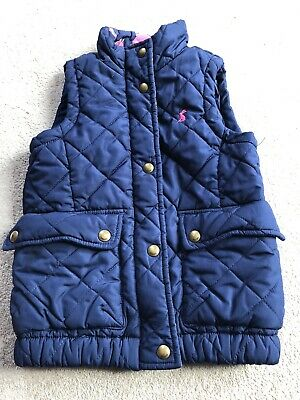 Joules Girls Navy Blue Gilet Age 5 Years Old