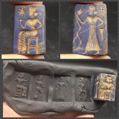 High Qulity Lapiz Lazuli Very Ancinet Roman Greek Different Intaglio Cylinder