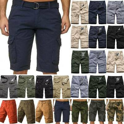 Men Cargo Shorts Pants Chino Military Army Casual Jogging Sports Combat Trousers