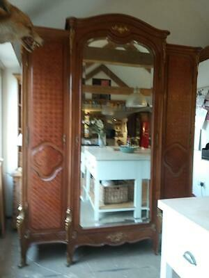 A  Superb 19Th Century French  Walnut Breakfront Armoire Wardrobe