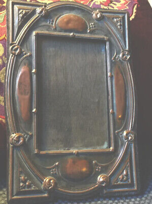 Arts And Crafts/Art Nouveau Photo Frame. Original Copper 17cmx24 Wooden Back.