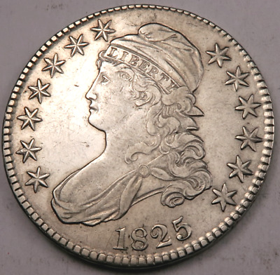 1825 Capped Bust Half Dollar - AU/Uncirculated++ - 90% Silver - #Z08441