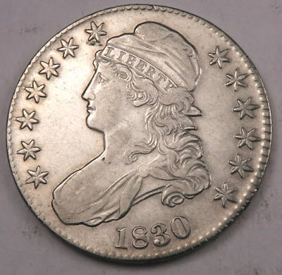 1830 Capped Bust Half Dollar - AU/Uncirculated - 90% Silver - #Z08443