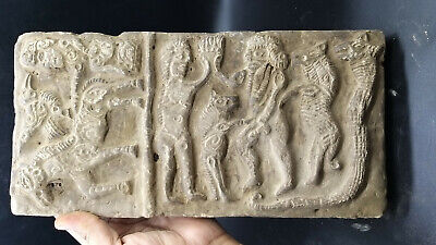 Museam Qulity Very Ancient Old Greek Bactrain History Craved Old Clay Wall Tile