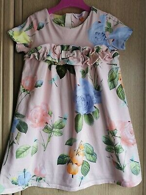Ted Baker Floral Girls Dress Age 5-6 Years