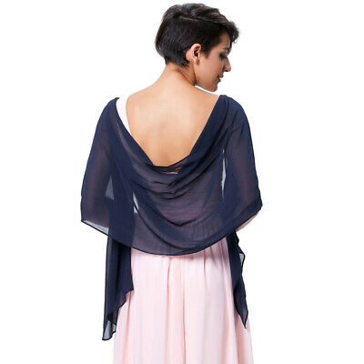 Women Chiffon Shawl Scarf Stole Wrap For Bridesmaid Wedding Party Evening Dress