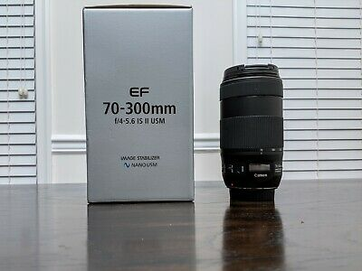 Canon EF 70-300mm f/4-5.6 IS II USM Lens - Mint condition