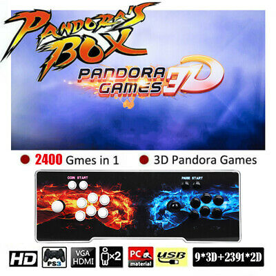 Pandora's 2400 in 1 Classic 3D Video Games Double Stick Retro Arcade Console