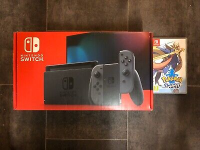 Brand New Nintendo Switch Console V2 Better Battery With Pokemon Sword Game