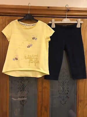 Girls T-shirt & Cropped Leggings - Age 8 (small Fit 7?)